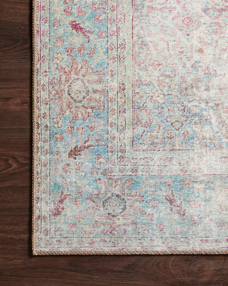 crown and birch claire rug red teal corner floor