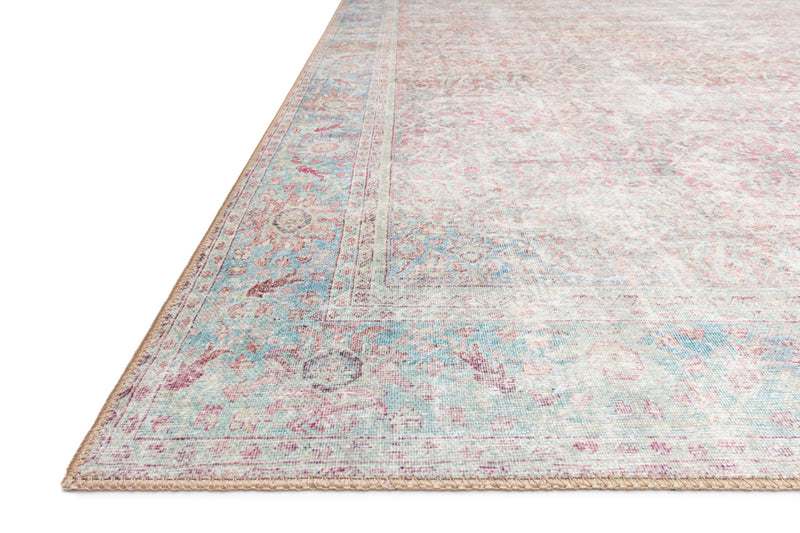 crown and birch claire rug red teal corner
