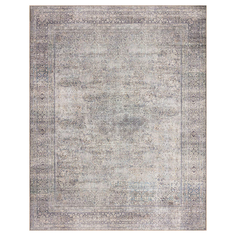 crown and birch claire rug silver charcoal front