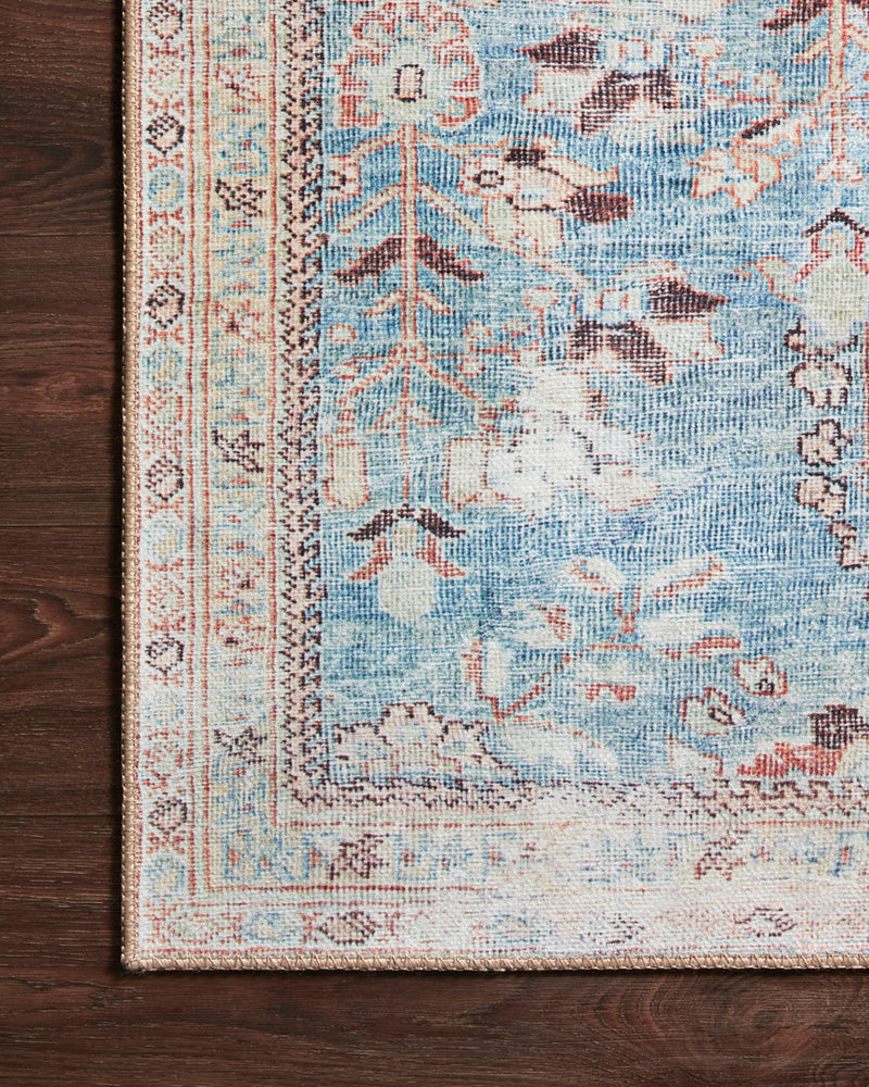 crown and birch claire rug teal multi corner floor