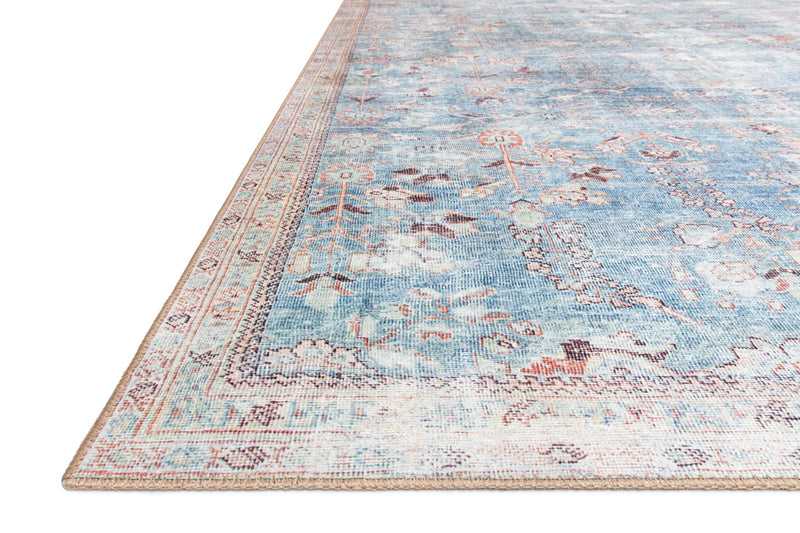 crown and birch claire rug teal multi corner