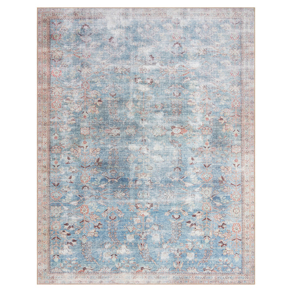 crown and birch claire rug teal multi front