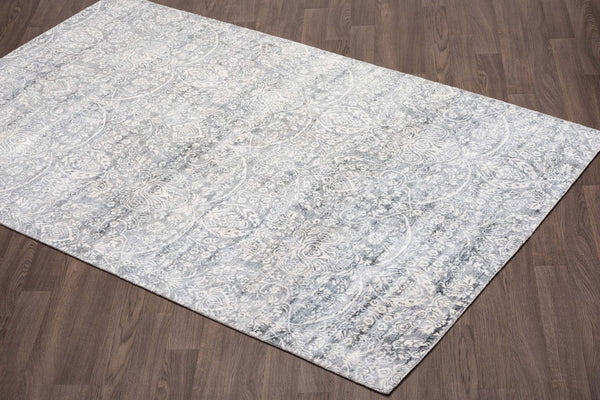 crown and birch clearwater rug grey angle