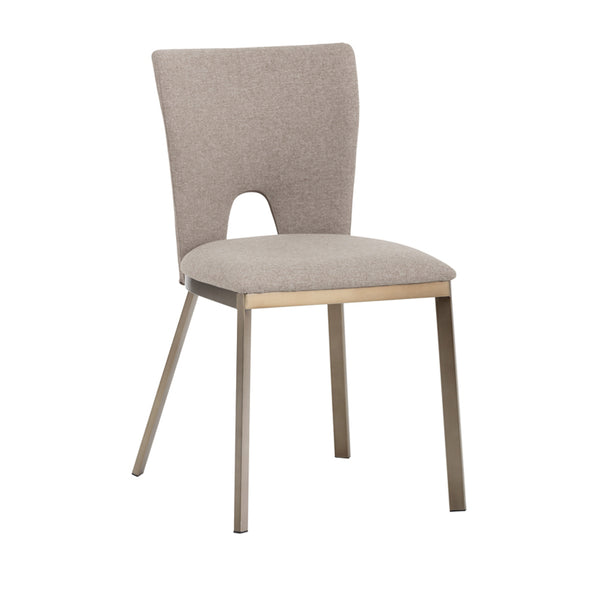 crown and birch cleo dining chair brown angle