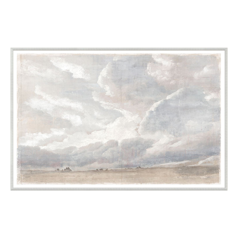 crown and birch cloud study framed print