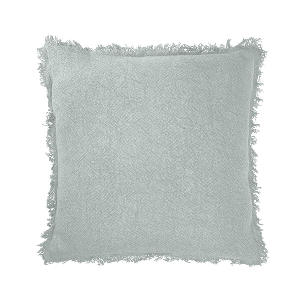 crown and birch colton sage fringe pillow front