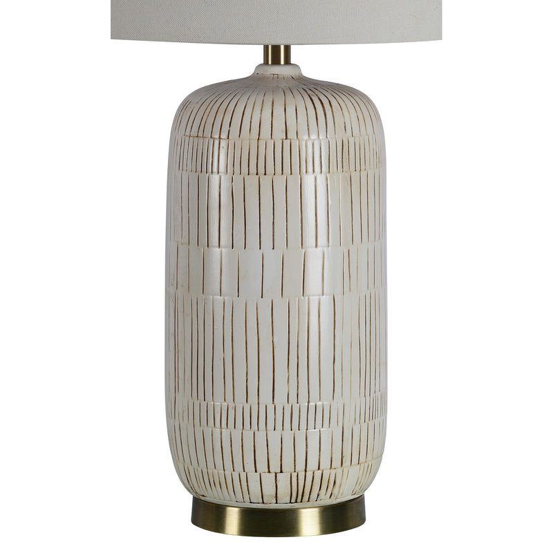 crown and birch cynthia table lamp detail
