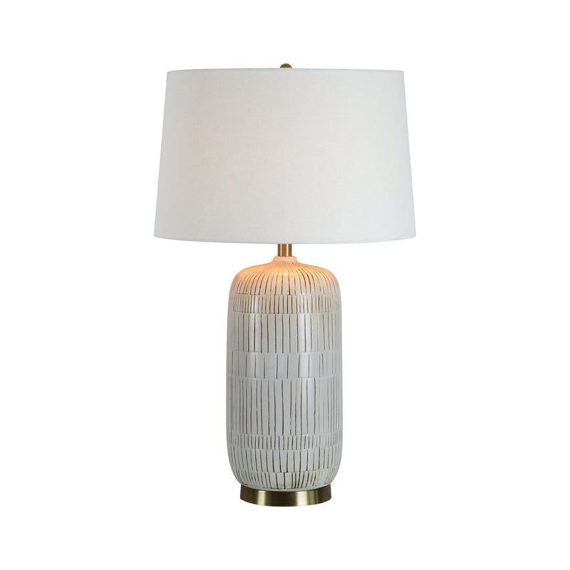 crown and birch cynthia table lamp front on