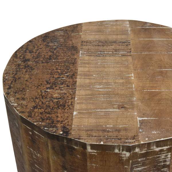 crown and birch distressed natural accent table top