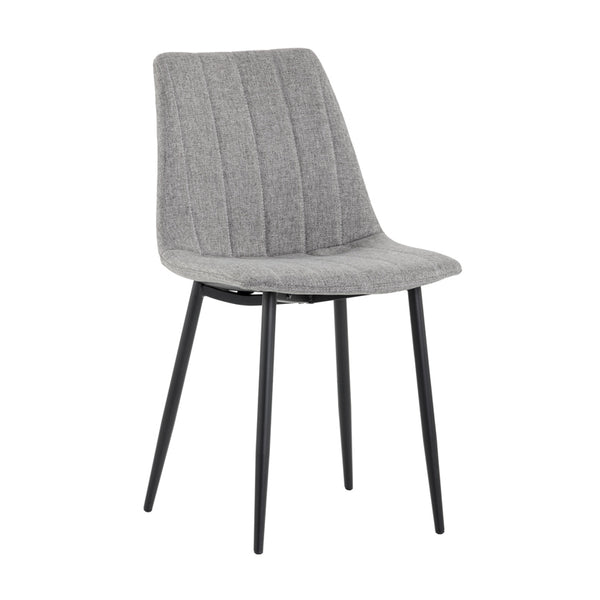 crown and birch dorian dining chair grey angle