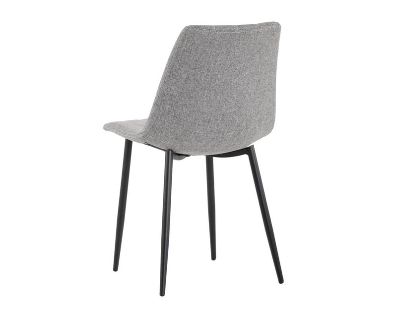 crown and birch dorian dining chair grey back