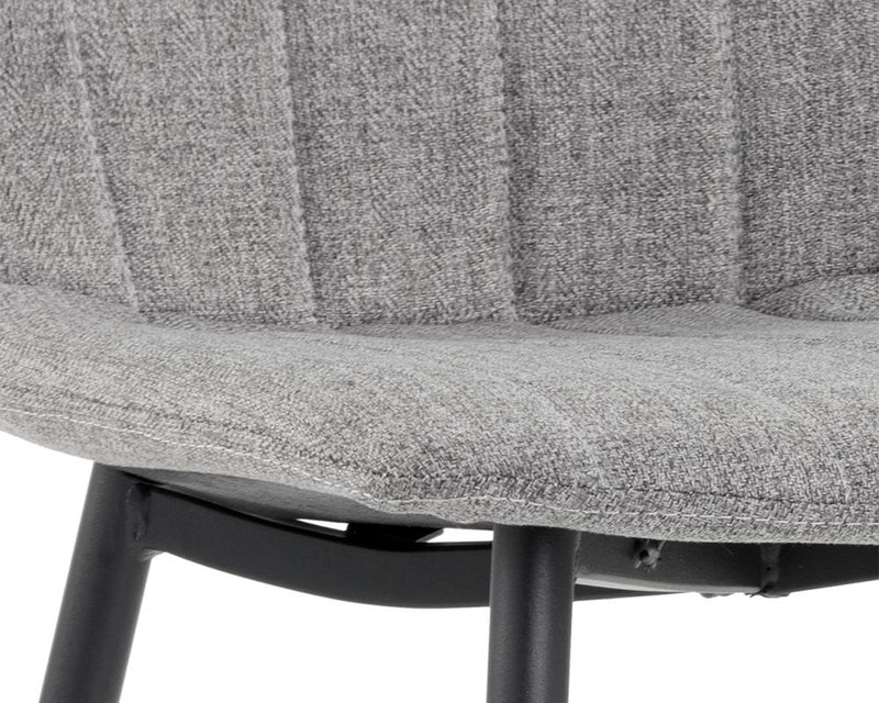 crown and birch dorian dining chair grey detail