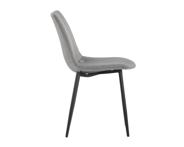 crown and birch dorian dining chair grey side