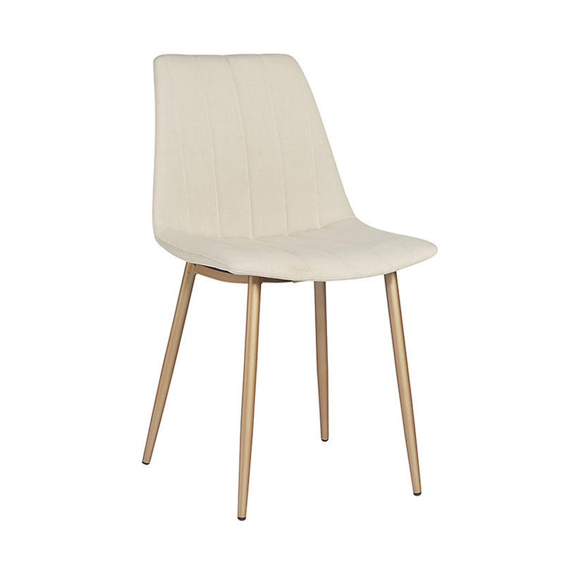 crown and birch dorian dining chair linen angle
