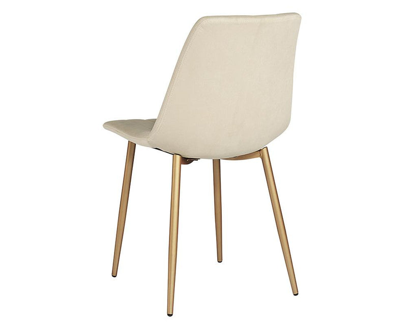 crown and birch dorian dining chair linen back