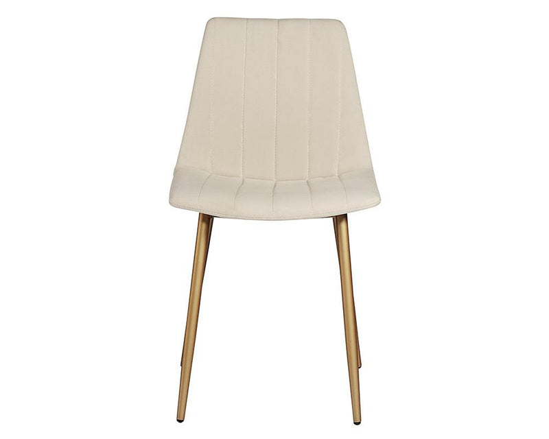 crown and birch dorian dining chair linen front