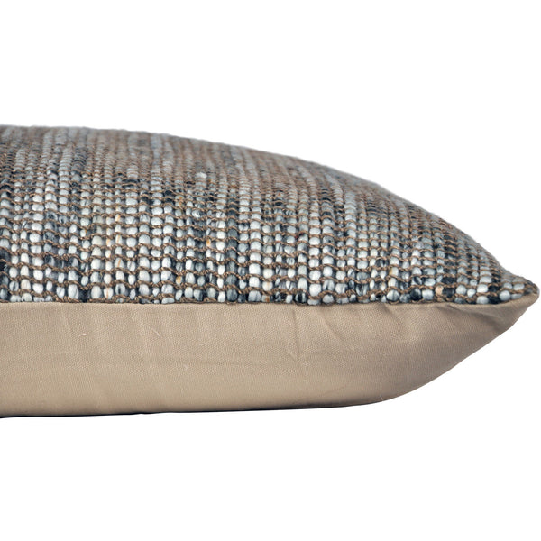 crown and birch dusk greige multi textured pillow corner