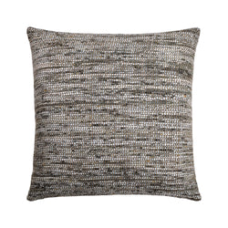 crown and birch dusk greige multi textured pillow front