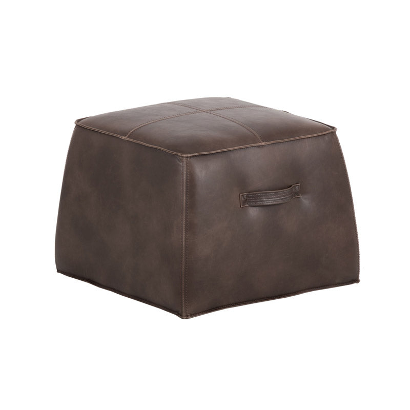 crown and birch elbert ottoman dark brown angle