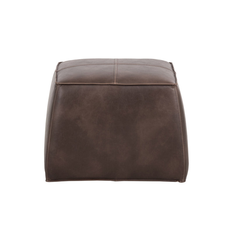 crown and birch elbert ottoman dark brown back