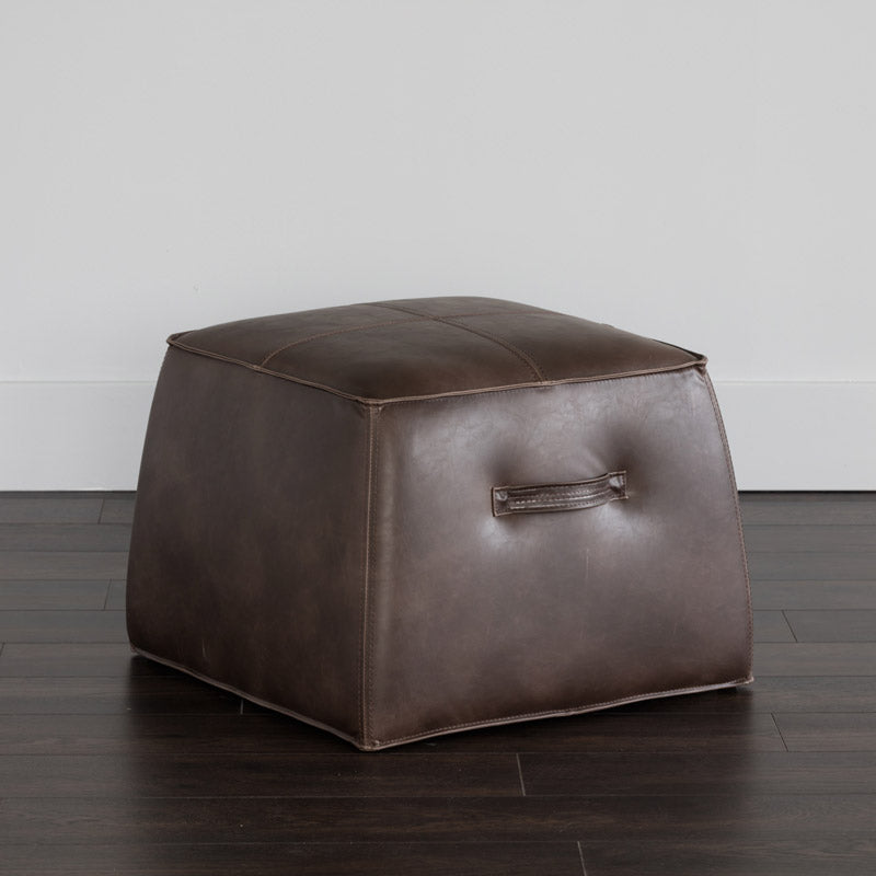 crown and birch elbert ottoman dark brown scene