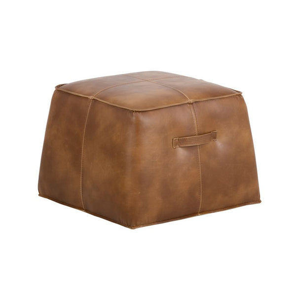crown and birch elbert ottoman tobacco tan angle
