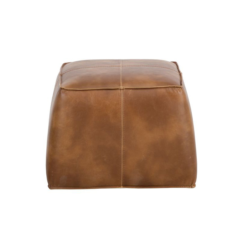 crown and birch elbert ottoman tobacco tan back