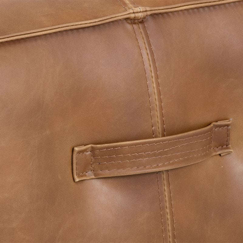 crown and birch elbert ottoman tobacco tan detail