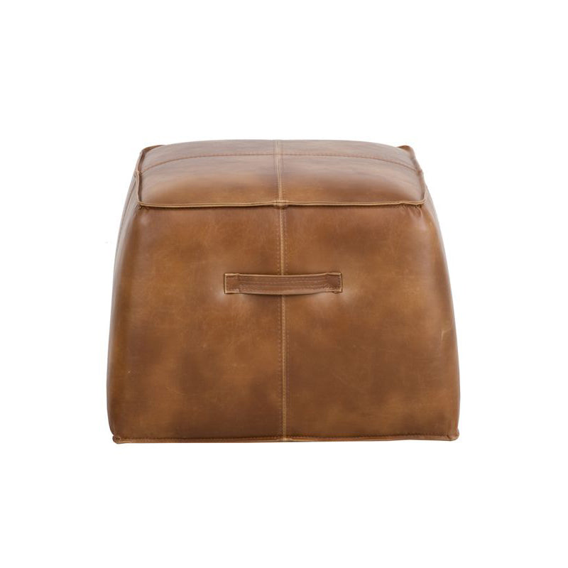 crown and birch elbert ottoman tobacco tan front