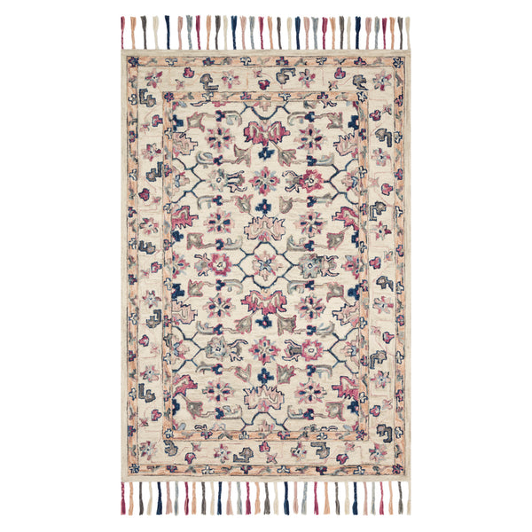 crown and birch elsa rug ivory multi front