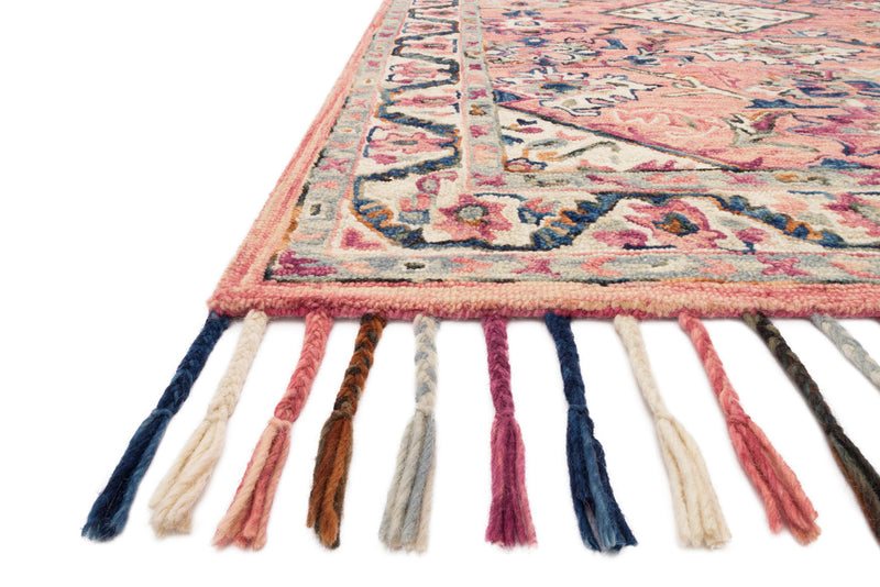 crown and birch elsa rug pink multi detail