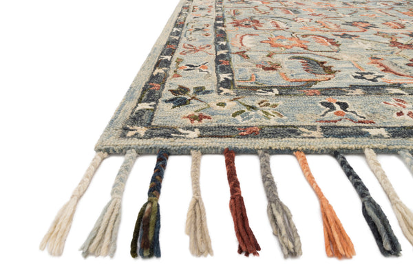 crown and birch elsa rug sky multi detail