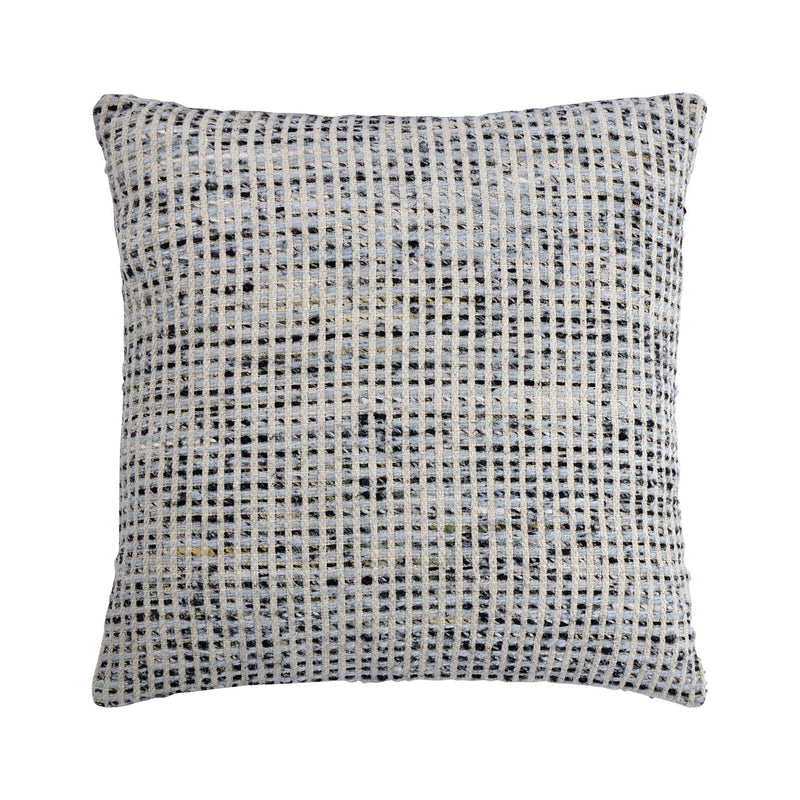 crown and birch elton white grey square knit pillow front