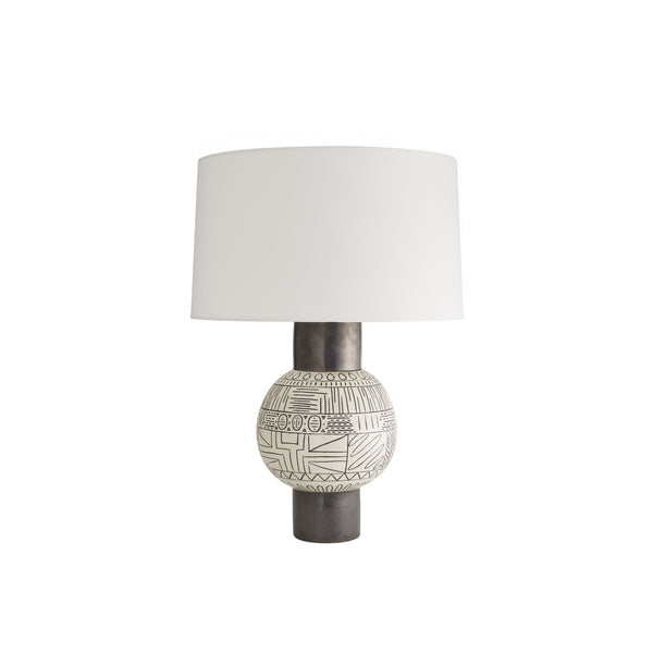 crown and birch espanola table lamp front off
