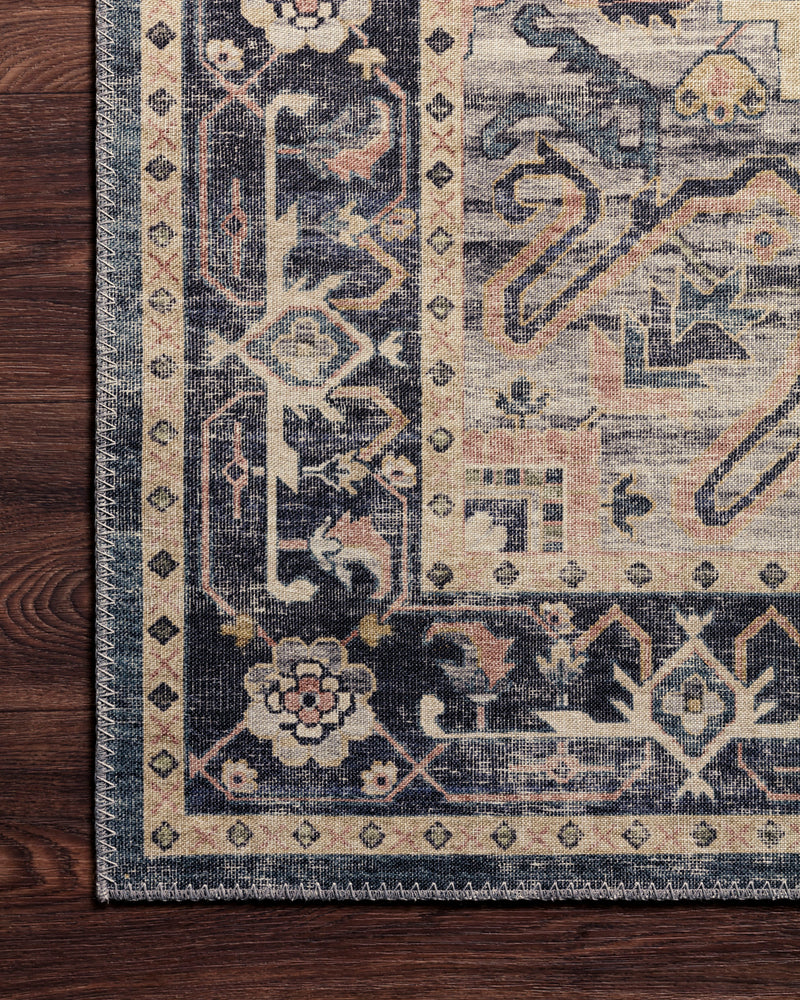 crown and birch estelle rug navy multi detail loloi hathaway