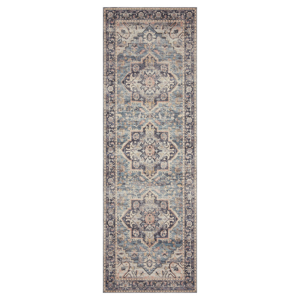 crown and birch estelle rug navy multi runner loloi hathaway