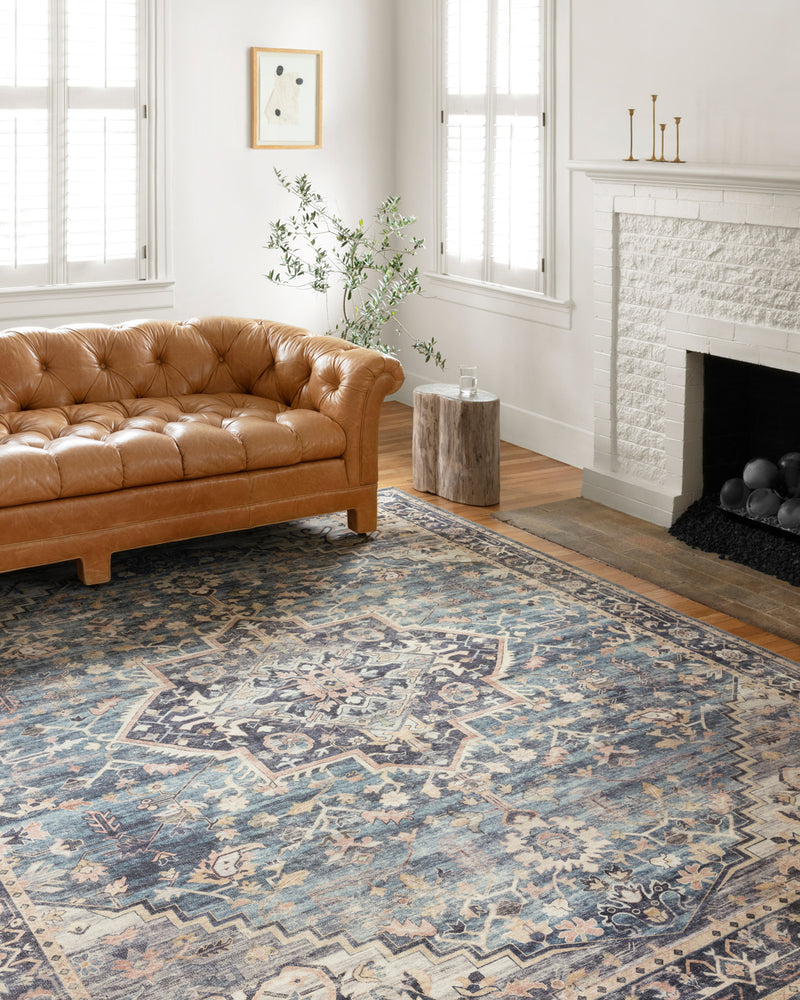 crown and birch estelle rug navy multi scene loloi hathaway