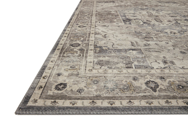 crown and birch estelle rug steel ivory corner loloi hathaway