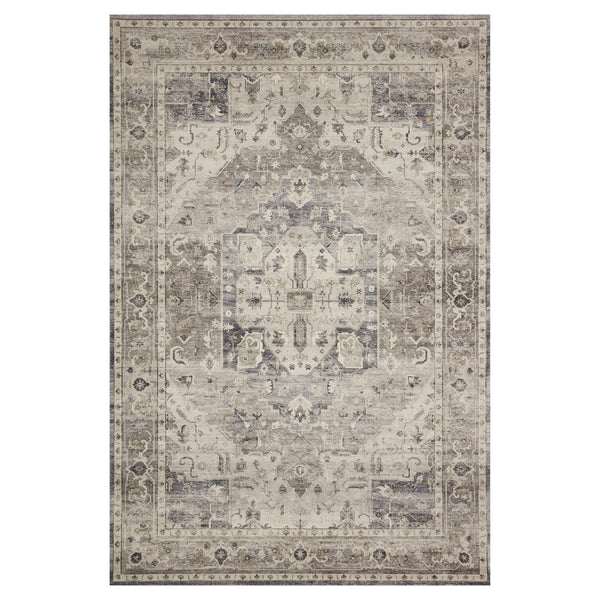 crown and birch estelle rug steel ivory front loloi hathaway