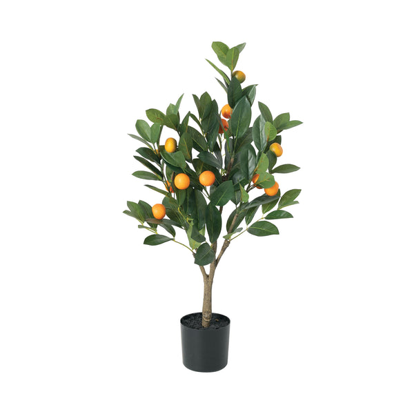 crown and birch faux orange tree front