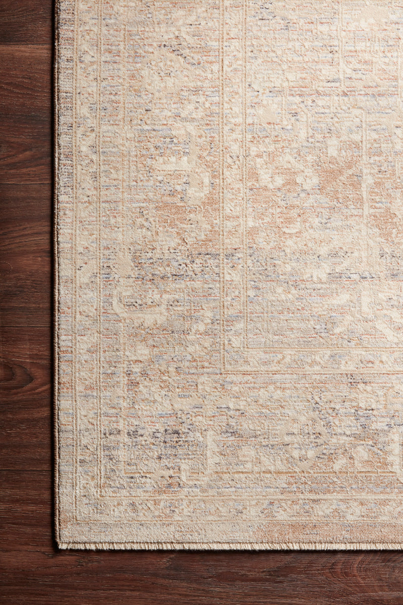 crown and birch felicity rug faye rug beige blue corner