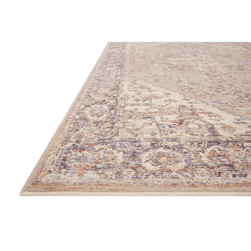 crown and birch felicity rug loloi faye rug taupe denim detail