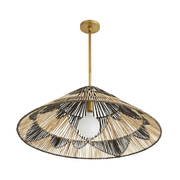 crown and birch fernandez pendant charcoal and natural angle