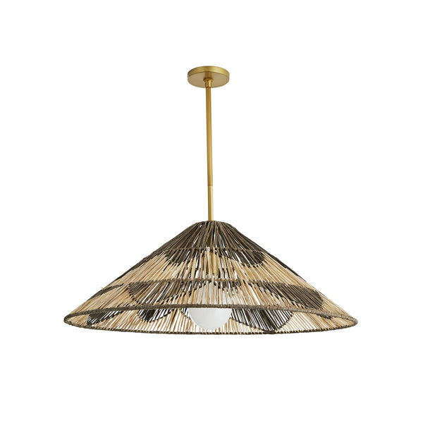 crown and birch fernandez pendant charcoal and natural front