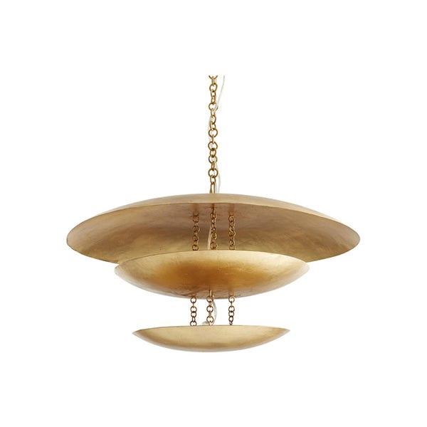 crown and birch frodo chandelier gold leaf front
