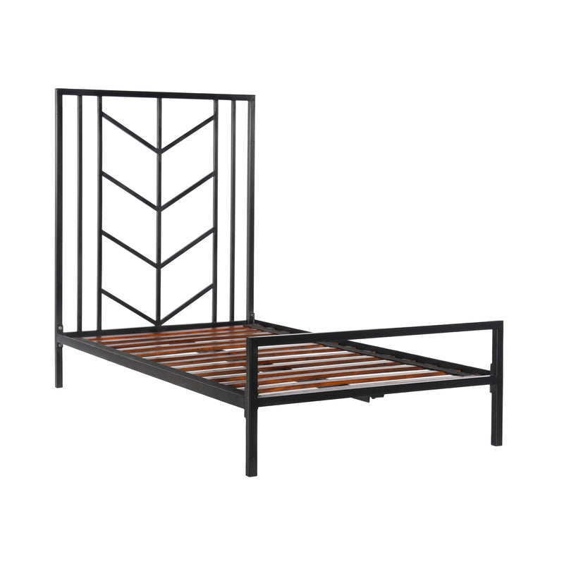 crown and birch gailen bed black twin frame