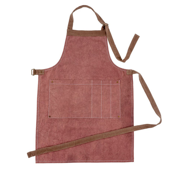 crown and birch gardeners apron burgundy