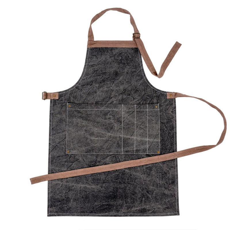 crown and birch gardeners apron charcoal