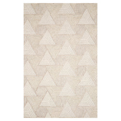 crown and birch geo rug loloi ehren oatmeal ivory front