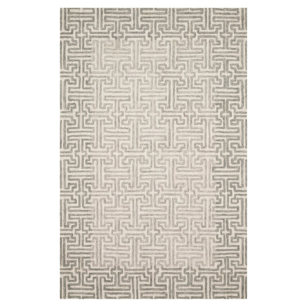 crown and birch geo rug stone sand front